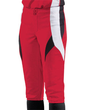 Ladies Stinger Low-Rise Softball Pant Scarlet/Black/White