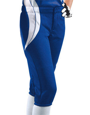 Ladies Sweep Low-Rise Softball Pant Royal/White