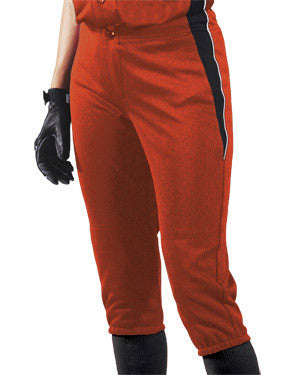 Ladies Change-Up Softball Pant Orange/Black/White