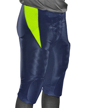 End Around Integrated Football Pant Navy/Fluorescent Green