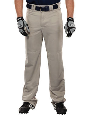 Leadoff 14 oz. Open Bottom Baseball Pant Silver