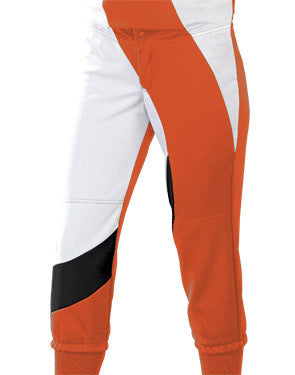 Ladies Cyclone Softball Pant Orange/White/Black