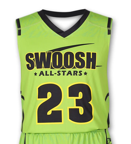 """Blocker"" Custom Sublimated Basketball Jersey Front View"
