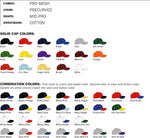 Style 414 softball cap colors