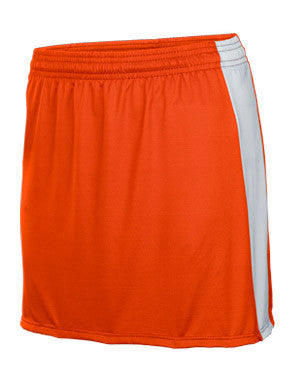 Bold Women's Lacrosse Skirt Orange/White