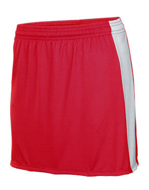 Bold Women's Field Hockey Skirt Scarlet/White