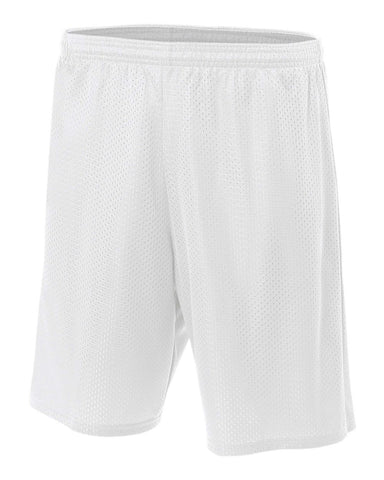 "A4 7"" Lined Tricot Mesh Shorts Sizes 2XL-4XL"