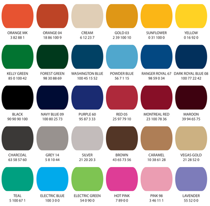 Fitwell Color Chart