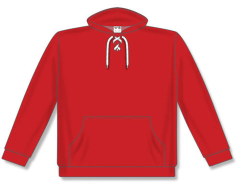 AK Lace Neck Red Hoodie