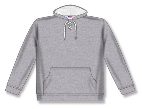 AK Lace Neck Heather Grey Hoodie