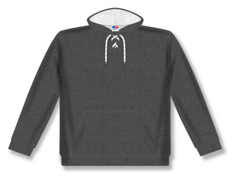 AK Lace Neck Heather Charcoal Hoodie