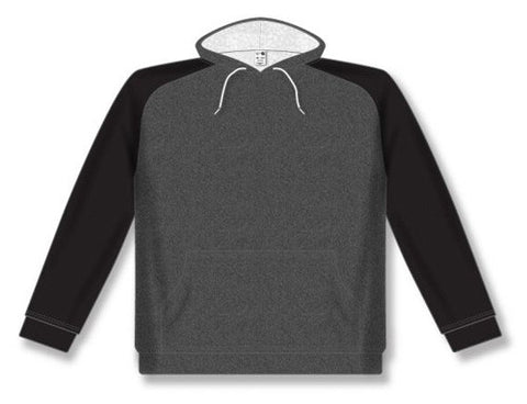 AK Two-Tone Heather Charcoal/Black Hoodie
