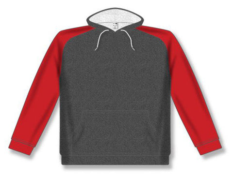 AK Two-Tone Heather Charcoal/Red Hoodie