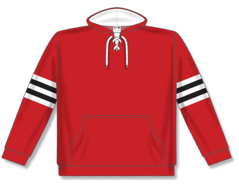 AK NHL Team Stripe Chicago Red Hoodie
