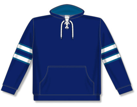 AK NHL Team Stripe Winnipeg Navy Hoodie