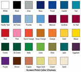 Color Selections for Screen Printing