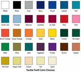 Tackle Twill and Embroidery Color Selection