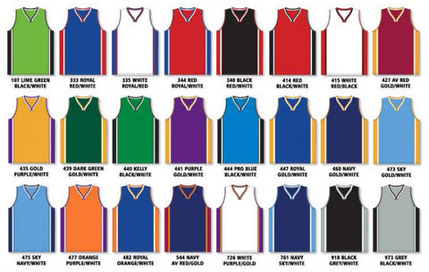 7d4f372a6bac Pro Cut Basketball Jersey with Rap Neck   Side Inserts Colors