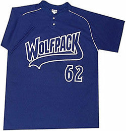 BA1344 Two Button Neck Baseball Jersey