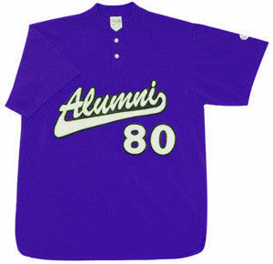 BA1347 Two Button Neck Baseball Jersey