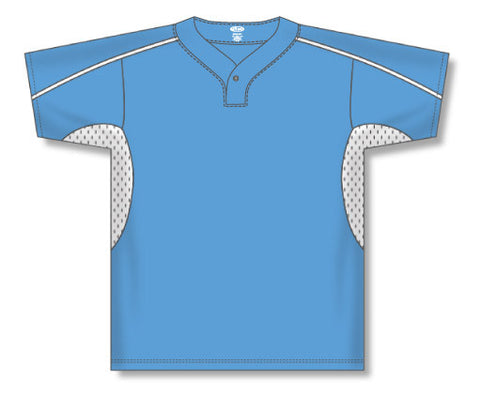 BA1745 One Button Pro Placket Baseball Jersey with Underarm Inserts