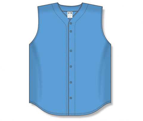 BA1812 Full Button Sleeveless Baseball Jersey