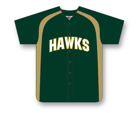 BA502C Custom Full Button Baseball Jersey