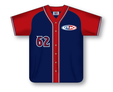BA513 Custom Full Button Baseball Jersey