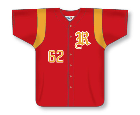 BA551 Custom Full Button Baseball Jersey