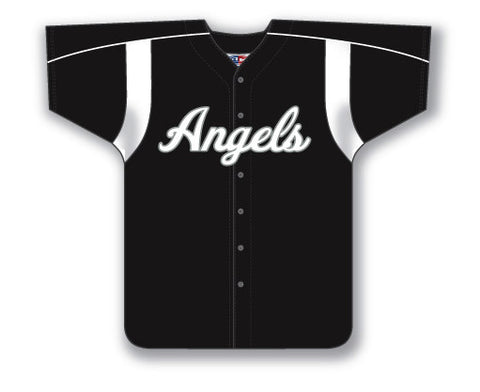 BA552 Custom Full Button Baseball Jersey
