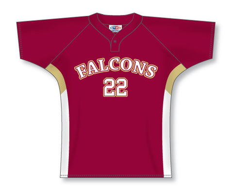 BA553 Custom One Button Baseball Jersey