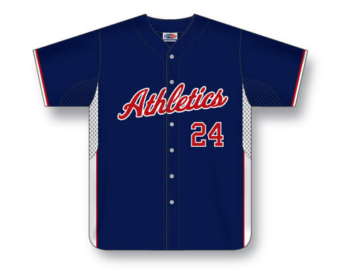 BA558 Custom Full Button Baseball Jersey