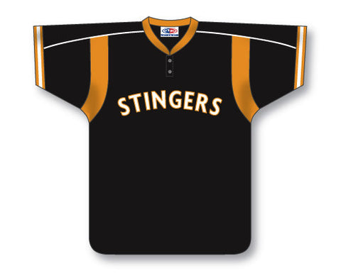 BA607 Custom Two Button Baseball Jersey
