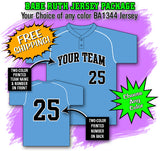 BBPAK5 Babe Ruth Baseball Jersey Package