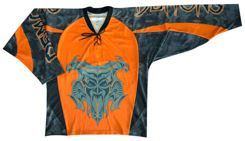 Demon Custom Sublimated Hockey Jersey Front View