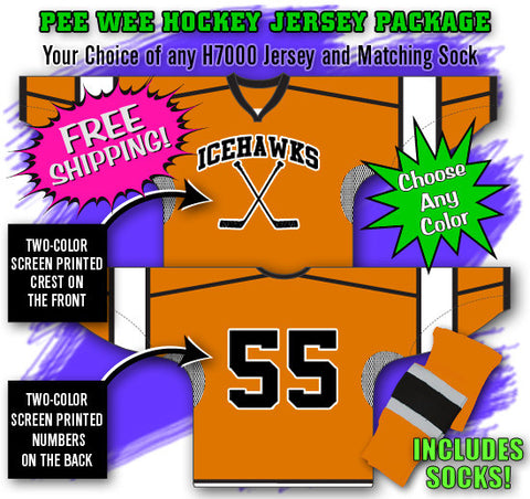 Peewee Hockey Jersey Package