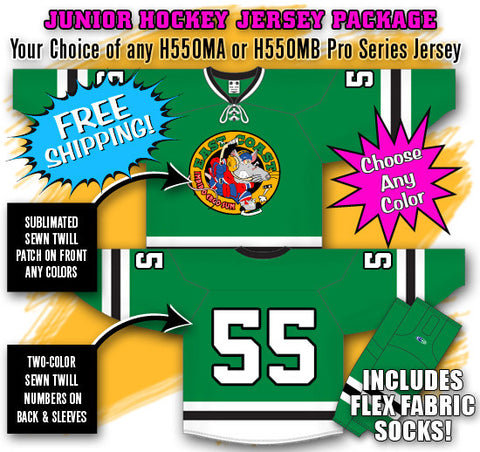 Junior Hockey Jersey Package