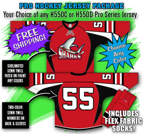 Pro Hockey Jersey Package