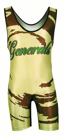 HURRICANE 2 Custom Sublimated Wrestling Singlet