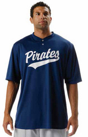 N3143 Two Button Interlock Tek Baseball Jersey