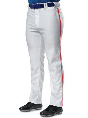 N6162 Baggy Cut Pro Style Baseball Pant with Piping & Open Bottom