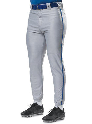 N6178 Pro Style Baseball Pant with Piping & Elastic Bottom