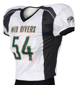 Faux Panel Custom Sublimated Raglan Football Jersey
