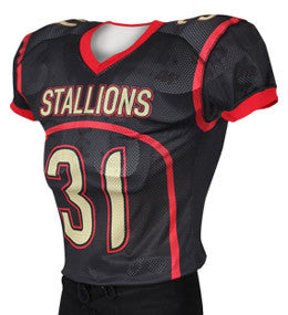 Horseshoe Custom Sublimated Raglan Football Jersey