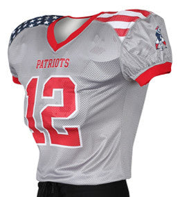 Stars & Stripes Custom Sublimated Raglan Football Jersey