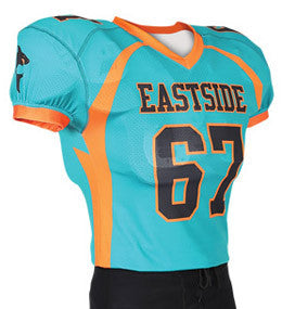 Streamer Custom Sublimated Raglan Football Jersey