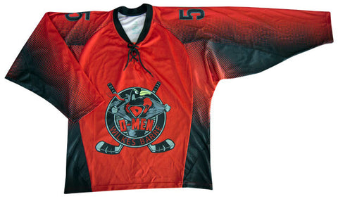 Spy Custom Sublimated Hockey Jersey Front View