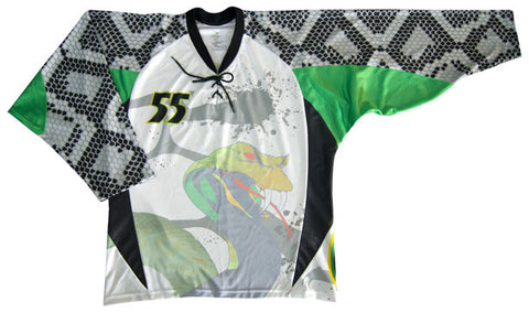 Venom Custom Sublimated Hockey Jersey Front View