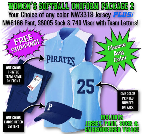 Women's Softball Uniform Package 2