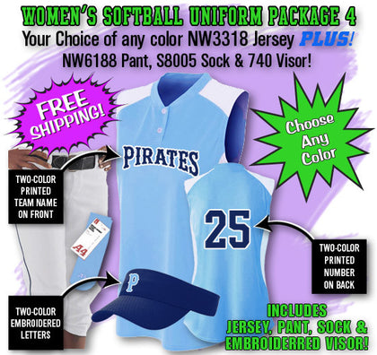 Women's Softball Uniform Package 4